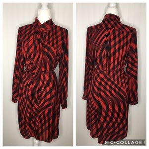Vince Camuto Button Down Belted Shirt Dress Size M